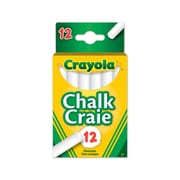 Crayola® Chalk, White, 12 per Box, 12/Pack