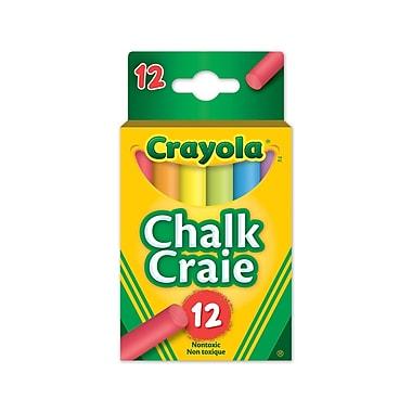 Crayola® -Craie, couleurs assorties, 12 par boîte, paq./12