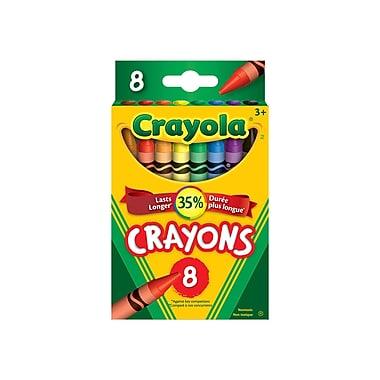 Crayola® - Crayons de cire, boîte à patte rentrante, 8 par boîte, paq./24