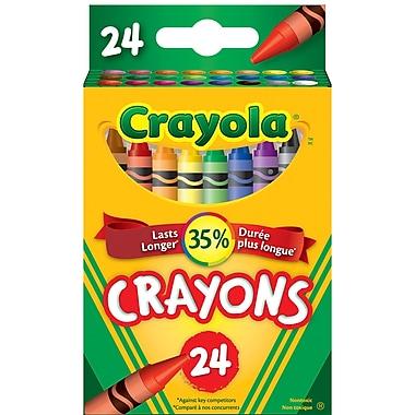 Crayola® - Crayons de cire, boîte à patte rentrante, 24 par boîte, paq./12