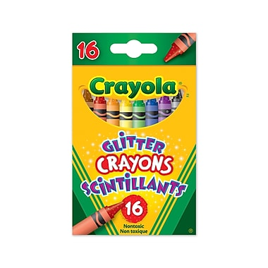 Crayola® Glitter crayons, Assorted Colours, 16 per Box, 8/Pack