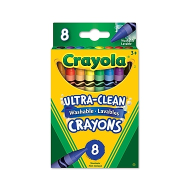 Crayola® Washable crayons, Assorted Colours, 8 per Box, 24/Pack