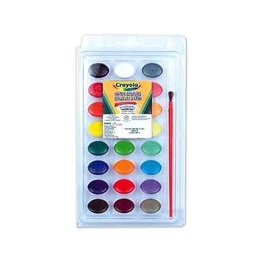 Crayola® Washable Watercolours, 24 per Packages, 12/Pack