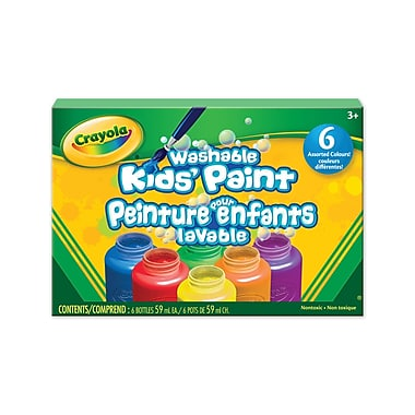 Crayola® Washable Kids' Paint, 6 per Box, 6/Pack