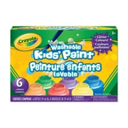 Crayola® Washable Kids' Paint, Glitter, 6 per Box, 6/Pack