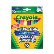 Crayola® Washable Broad Line Markers, Assorted Colours, 16 per Box, 12/Pack