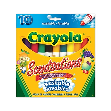 Crayola® Scentsations Washable Markers, Broad Line, 10 per Box, 12/Pack