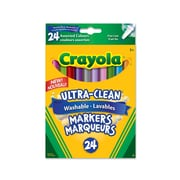 Crayola® 24-Piece Ultra-Clean Washable Fine Line Markers, Assorted Colours, 12/Pack