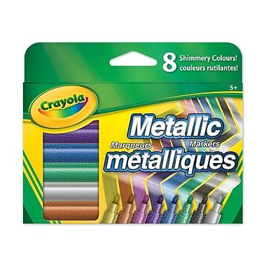 Crayola® - Marqueurs métalliques, trait fin, 8 par boîte, paq./8