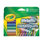 Crayola® Metallic Markers, Fine Line, 8 per Box, 8/Pack