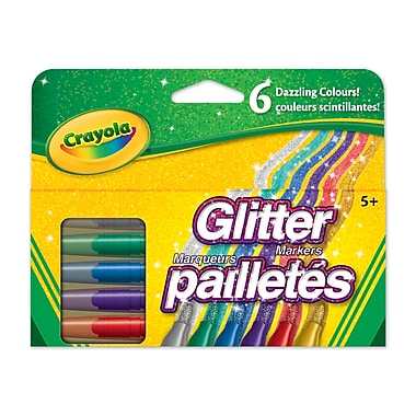 Crayola® Glitter Markers, 6 per Box, 8/Pack