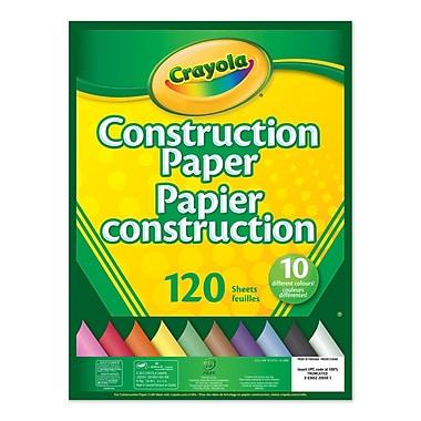Crayola® - Bloc de papier construction, blocs de 120 feuilles, paq./12