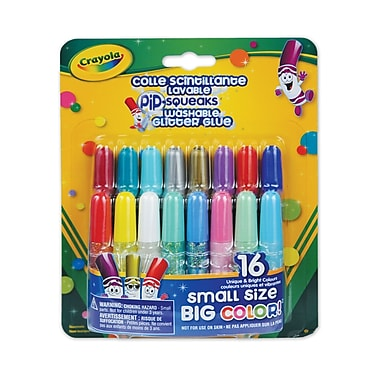 Crayola® Pip-Squeaks Washable Glitter Glue, 16 per Package, 16/Pack