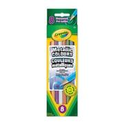 Crayola® Metallic Coloured Pencils, 8 per Box, 12/Pack