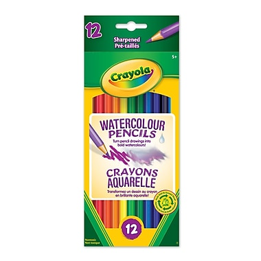 Crayola® Watercolour Pencils, 12 per Box, 12/Pack