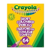 Crayola® Short Coloured Pencils, 64 per Box, 12/Pack