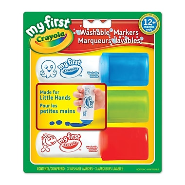 Crayola® My First Easy Grip Markers, 6/Pack