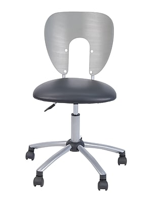 Studio Designs Futura/Vision Chair Wood & Metal Recliner, Silver