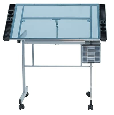 Studio Designs 40.75''Lx25.75''D Rectangular Art/Planning Table, Metal