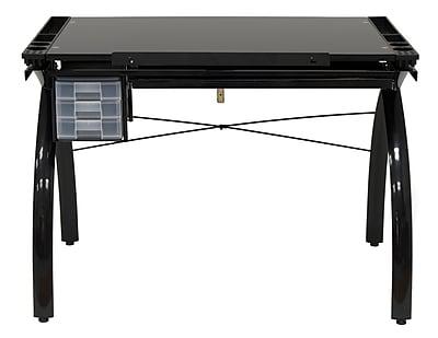 Studio Designs Futura 43.25''Lx24''D Rectangular Drafting Table, Solid Black