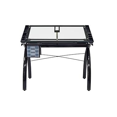 Studio Designs Futura 43.25''Lx24''D Rectangular Drafting Table, Black
