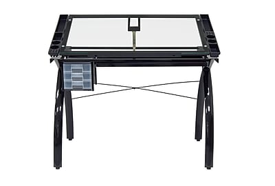 Studio Designs Futura 43.25''Lx24''D Rectangular Drafting Table, Black