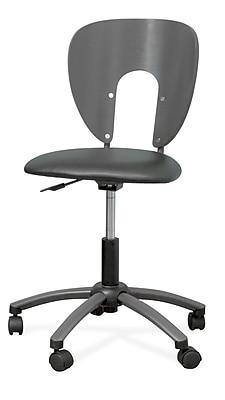 Studio Designs 10657 Futura Vinyl Armless Task Chair, Pewter