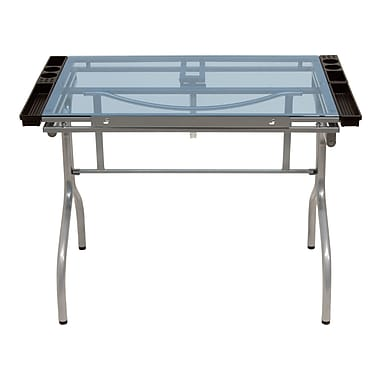 Studio Designs 41''Lx25''D Rectangular Art/Planning Table, Silver
