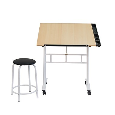 Studio Designs 34''Lx23.5''D Rectangular Art/Planning Table, Steel