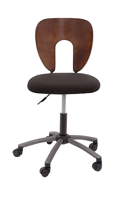 Studio Designs Ponderosa Wood Bankers Office Chair, Armless, Espresso (13249)