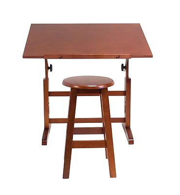 Studio Designs 36''Lx24.25''D Rectangular Workstation Table, Wood/Veneer