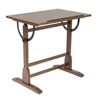 Studio Designs Vintage 42''Lx24''D Rectangular Drafting Table, Oak