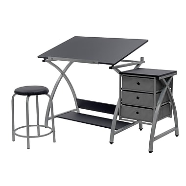 Studio Designs Comet 50''Lx23.75''D Specialty Workstation Table, Silver