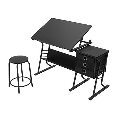 Studio Designs Eclipse 50''Lx23.75''D Rectangular Art/Planning Table, Steel