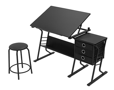 Studio Designs Eclipse 50''Lx23.75''D Rectangular Art/Planning Table, Steel