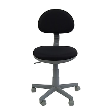 Studio Designs Fabric Computer and Desk Office Chair, Armless, Black (18509)