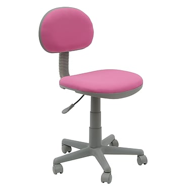 Studio Designs Fabric Computer and Desk Office Chair, Armless, Pink (18510)