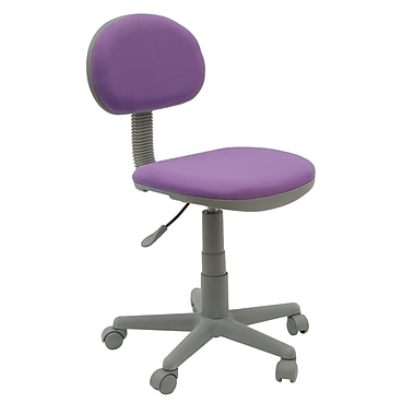 Studio Designs Deluxe Fabric Computer and Desk Office Chair, Armless, Purple (18516)