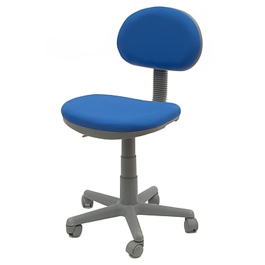 Studio Designs Fabric Computer and Desk Office Chair, Armless, Blue (18519)
