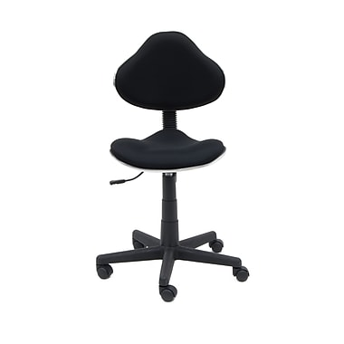 Studio Designs Fabric Mode Fabric Computer and Desk Office Chair, Armless, Black (18522)