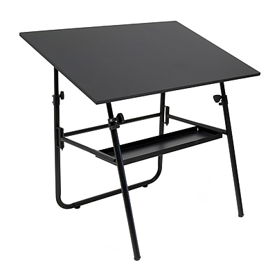 Studio Designs Ultima 42''Lx30''D Rectangular Workstation Table, Black
