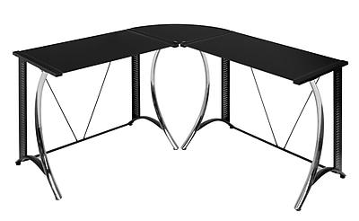 Calico Designs Monterey 58.5''Lx58.5''D Corner Workstation Table, Steel (50400)