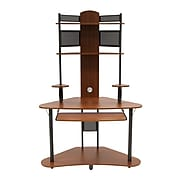 """Calico Designs 47.25"""" x 74"""" Wood Arch Tower, Pewter/Teak"""