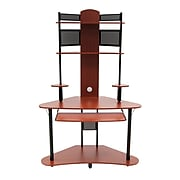 """Calico Designs 47.25"""" x 74"""" Wood Arch Tower, Cherry/Black"""