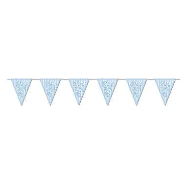 Blue It's A Boy! Pennant Banner, 10