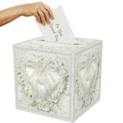 Boîte pour cartes blanc cassé, 12 x 12 po, paquet de 2