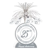 """Happy 25th Anniversary Centerpiece, 13"""", 3/Pack"""
