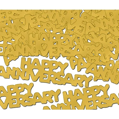 Gold Happy Anniversary Fanci-Fetti, 5/Pack