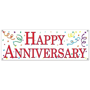 Happy Anniversary Sign Banner, 5' x 21