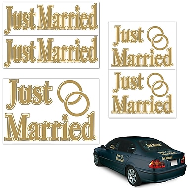 Autocollants « Just Married », variés, paquet de 10